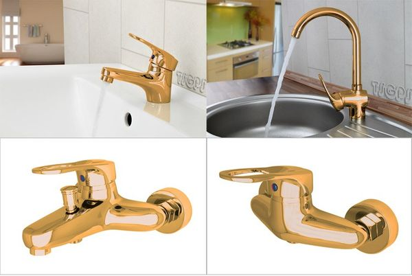 Classic Bathtub Bath Single Lever Water Tap Mixer Gold SILA Series – Bild 3