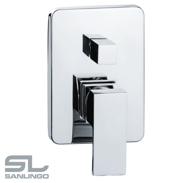 Modern Concealed Flush Wall Mount Bath Bathtub Shower Mono Tap Mixer Filler Chrome Sanlingo  – Bild 2