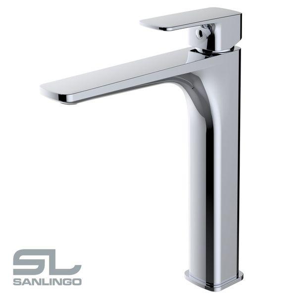 Waschschale Waschtischarmatur Armatur Wasserhahn Mischbatterie Einhebelmischer Chrom Sanlingo Serie DINA – Bild 2