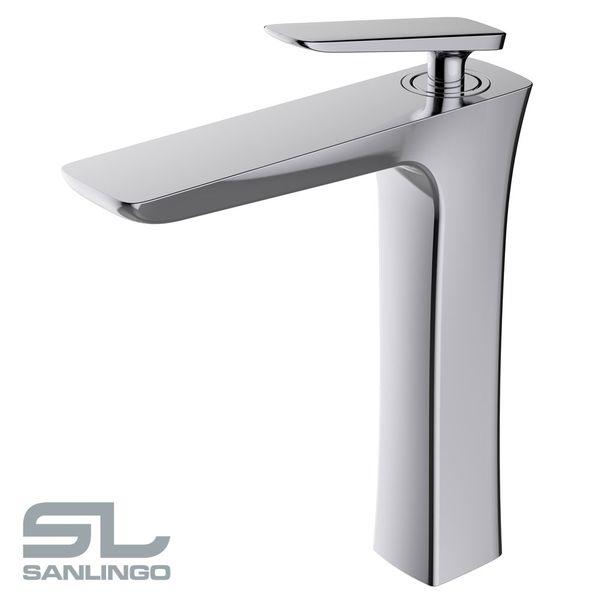 Waschbecken Waschtischarmatur Armatur Wasserhahn Mischbatterie Einhebelmischer Chrom Serie Emil Sanlingo – Bild 2