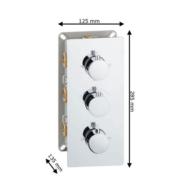 Modern Concealed Flush Wall Mount Four Ways Bathtub Shower Mono Tap Mixer Filler Chrome Thermostat Sanlingo  – Bild 6