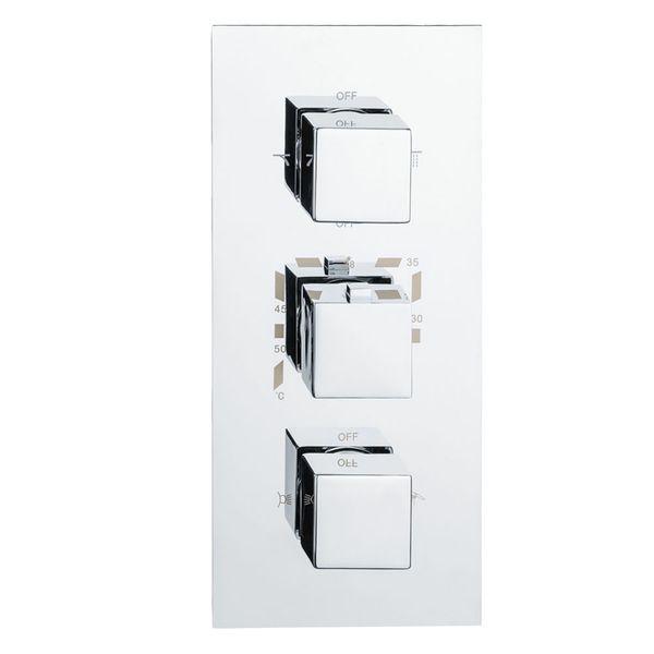 Sanlingo Dusche Unterputz Vier Wege Mischbatterie Wannenarmatur Armatur Thermostat Chrom – Bild 1