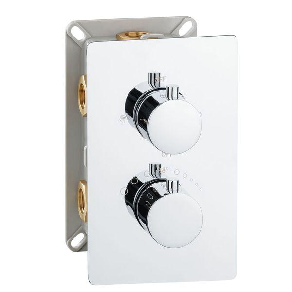 Sanlingo Modern Concealed Flush Wall Mount Two Ways Bath Shower Mono Tap Mixer Filler Chrome Thermostat – Bild 3