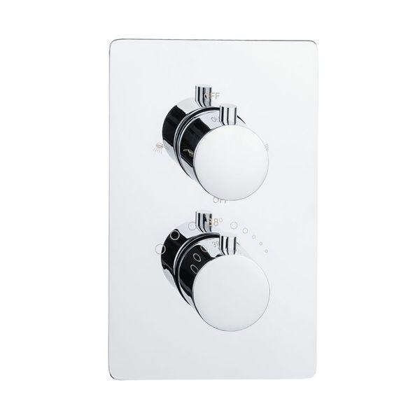 Sanlingo Modern Concealed Flush Wall Mount Two Ways Bath Shower Mono Tap Mixer Filler Chrome Thermostat – Bild 1