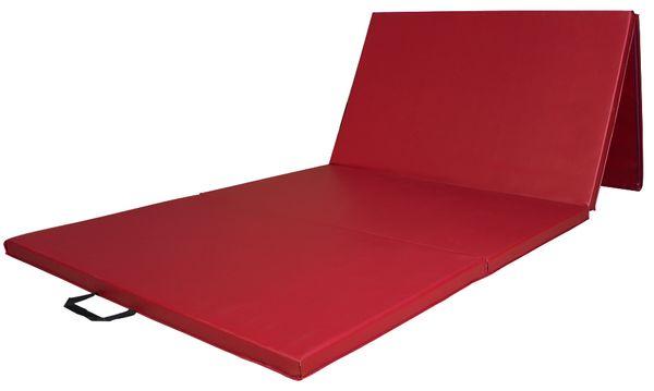 Weichbodenmatte Gymnastikmatte Turnmatte Bodenmatte Klappmatte Rot 300 x 120 cm Kingpower – Bild 1