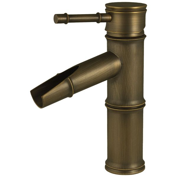 Basin Nostalgia Retro Single lever Tap Faucet Antique Brass Sanlingo Pump Iris – Bild 1