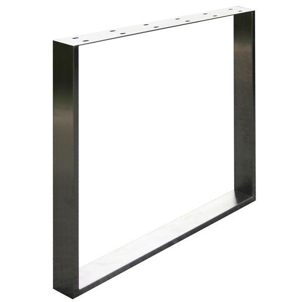 Edelstahl Tischkufe Tischgestell Tischbein 1000 mm Kufengestell V2Aox
