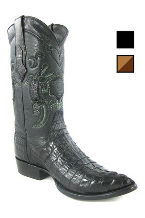 Herren Cowboy- & Westernstiefel aus Krokodil-, Kaimanleder (handgefertigt) B2FUCO