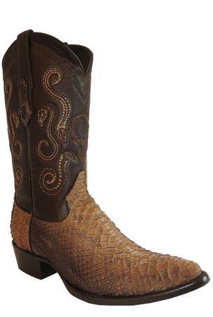 Herren Cowboy- & Westernstiefel aus Schlangenleder (handgefertigt) B2PHYT