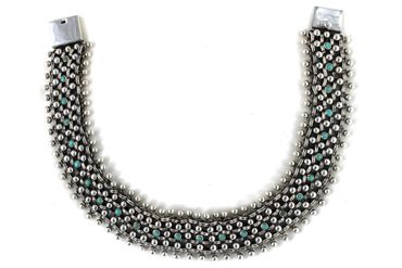 925 Halskette mit türkisen Steinen PIL 008