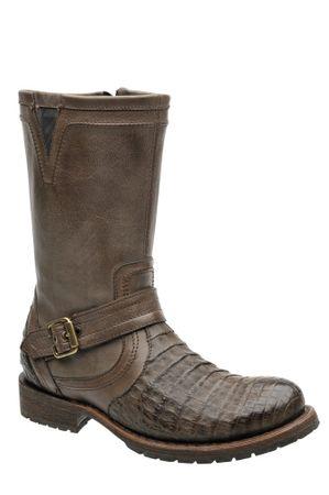 Herren Cowboy- & Westernstiefel aus Krokodi-Rückenlleder (handgefertigt) 2E09FY