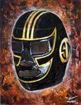 "Miguel Valverde ""Septiembre Negro"" 22 x 28 cm Acrylmalerei auf Holz gemalt UNIKAT!"