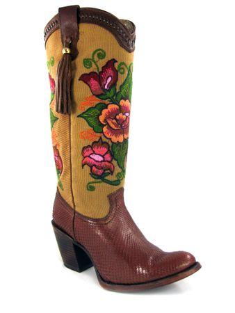 Cuadra Damen Western- Cowboystiefel (Schlangenleder) Tamarindo 1Z24PH_2