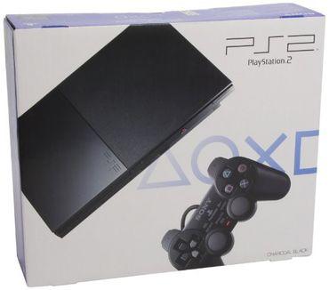 Gebraucht: PlayStation 2 - PS2 Konsole Slim, black (inkl. Dual Shock Controller)