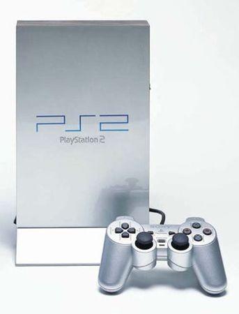 [A] Gebraucht: Playstation 2 - PS2 Konsole, silber