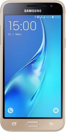 [A] Gebraucht: Samsung Galaxy J3 (2016) DUOS Smartphone (5,0 Zoll (12,63 cm Touch-Display, 8 GB Speicher, Android 5.1) gold