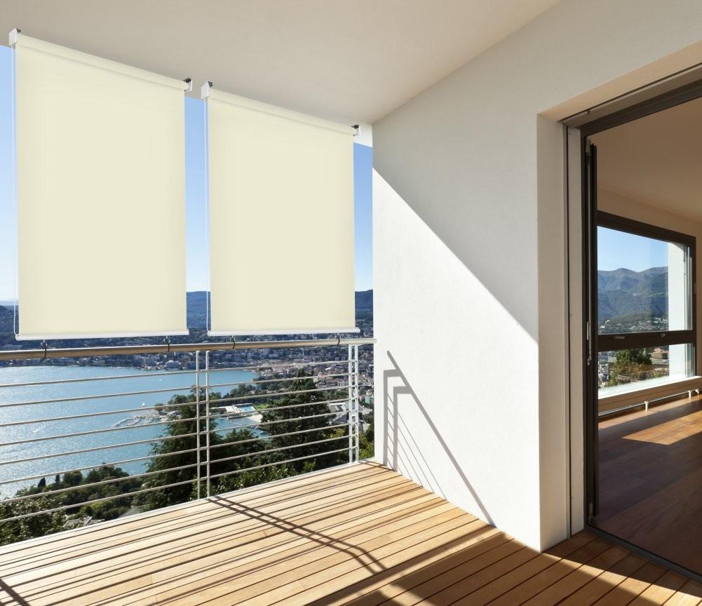 Relativ Balkon-Sichtschutz Balkon-Markise Balkon-Windschutz Rollo Creme XJ55
