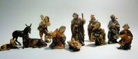 Krippe Krippen-Figuren GABRIEL 11-teilig Weihnachten 11 cm