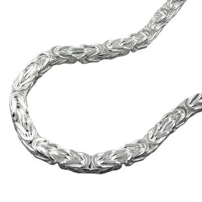 Kette ca.4mm Königskette vierkant glänzend Silber 925 70cm
