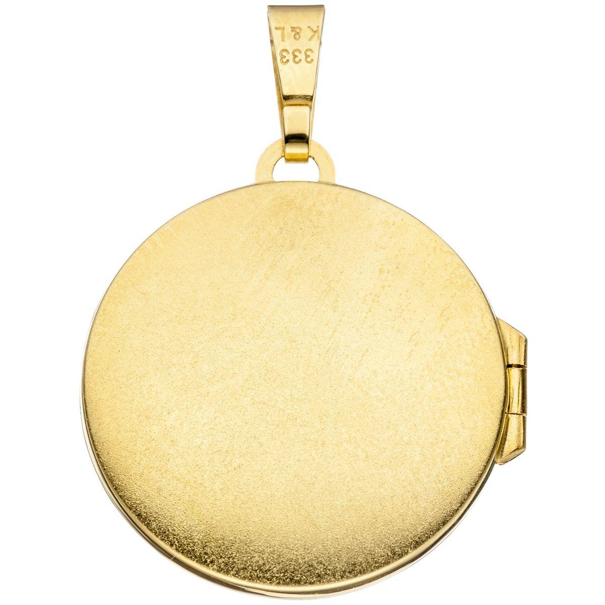 medaillon rund anh nger 333 gold gelbgold teilrhodiniert. Black Bedroom Furniture Sets. Home Design Ideas