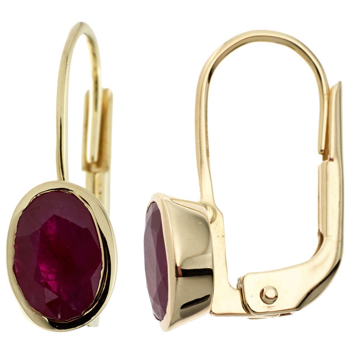 weltweite Auswahl an 100% Zufriedenheit geringster Preis Rubinohrringe Boutons 333 Gold Gelbgold 2 Rubine rot Ohrringe Ohrhänger