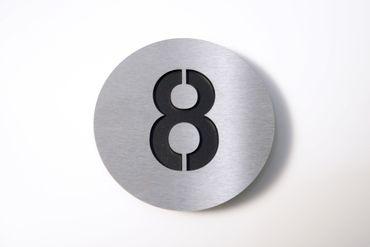 "Radius Design Hausnummer ""8"" edels./schwarz"