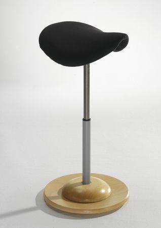 Mayer Pendelhocker mit ergonomischen Sattelsitz aus Kunstledersitz