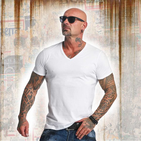 Basic Line V Neck T-Shirt