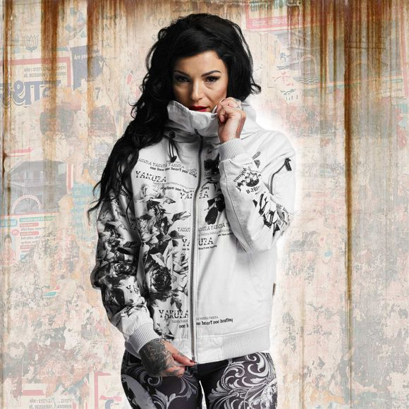 Flower Heavy Winter Bomberjacke
