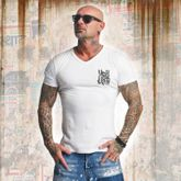 Basic Line Long Tail V Neck T-Shirt