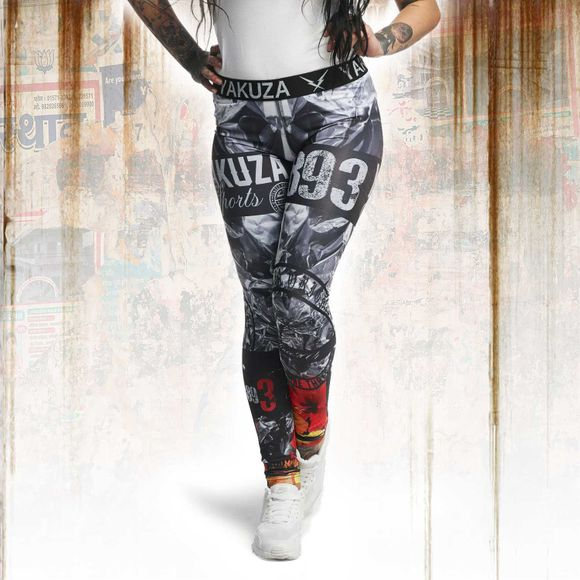 Flaming Flowers Sport Leggings