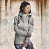 Daily Skull High Neck Kapuzenjacke