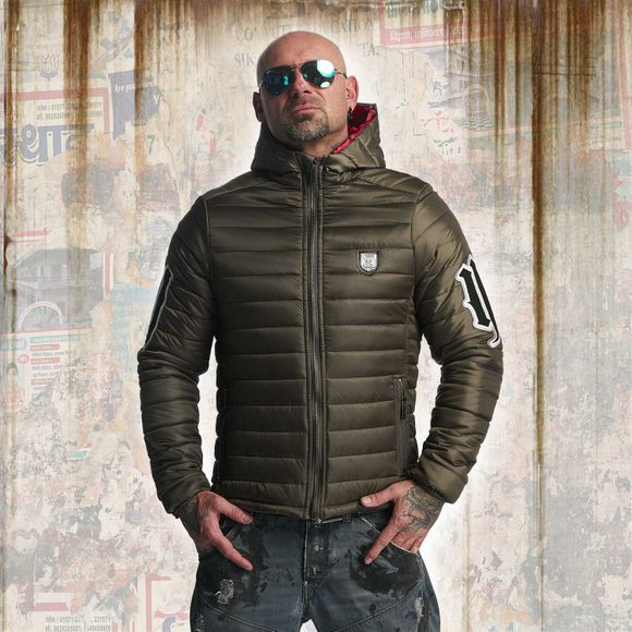Eight Quilted Hooded Jacket
