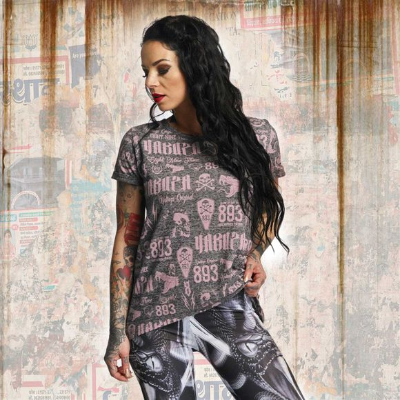 Allover Label Boyfriend T-Shirt