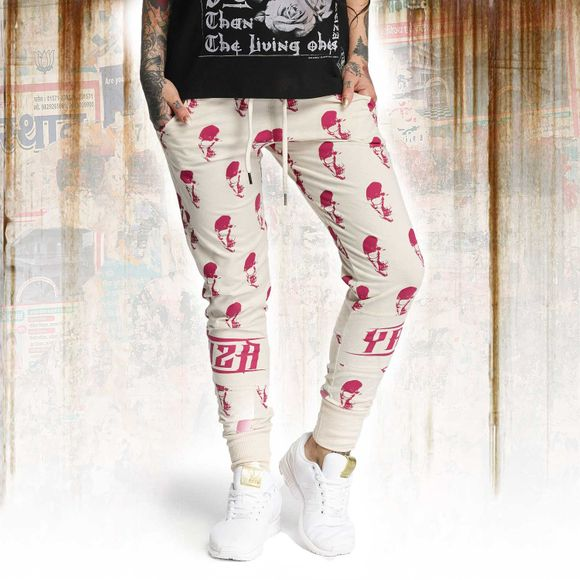 Allover Skull Skinny Sweatpants