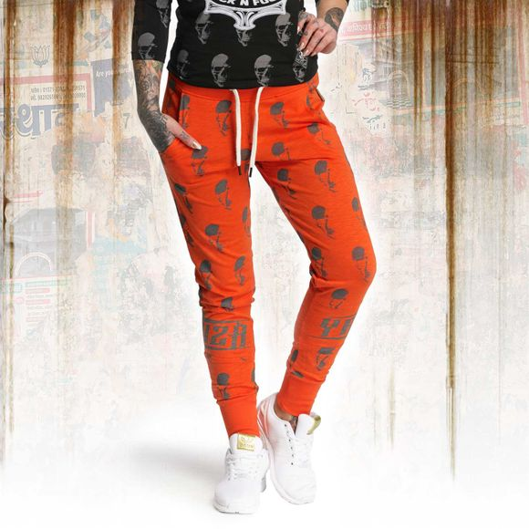 Allover Skull Skinny Jogginghose