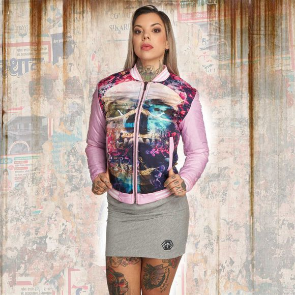 Flowers Of Death Baseballjacke