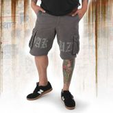 Skull Label Cargo Shorts