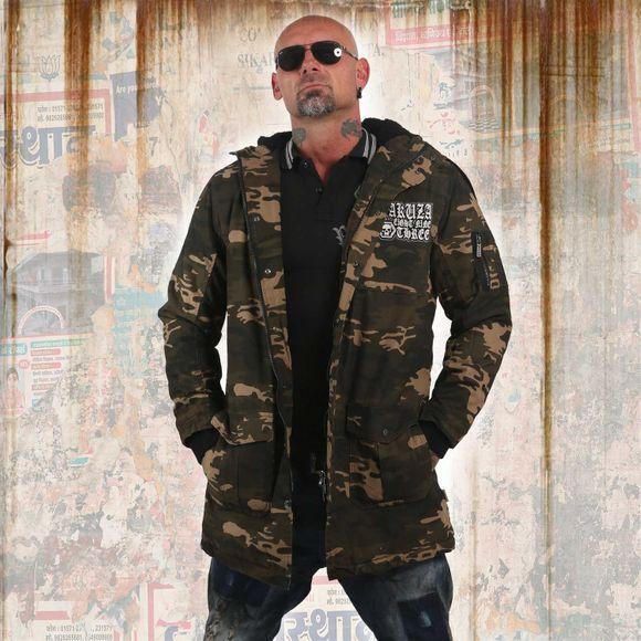 Flag Teddy Parka Jacket