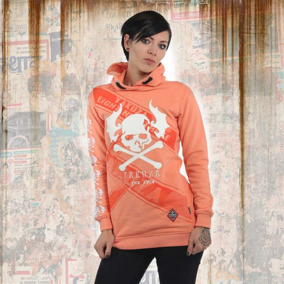 Flying Skull Flex Long Hoodie