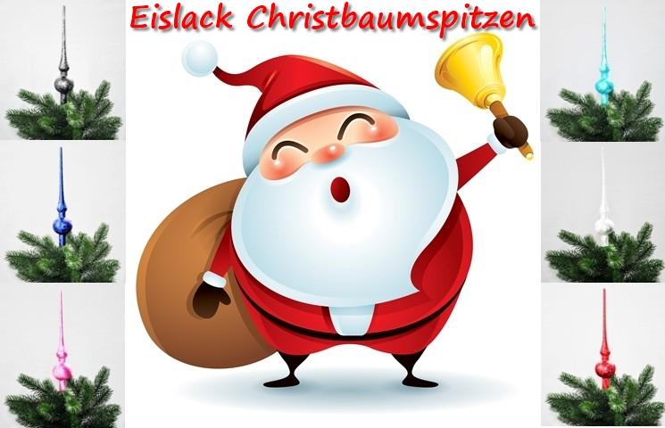 JACK Christbaumspitze Thüringer Glas 28cm Spitze Mundgeblasen Eislack Glanz Matt