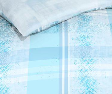 Kaeppel Linon Renforcé Bettwäsche 135x200cm 2 tlg. Surface Aqua Blau [3]