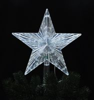 Christbaumspitze Stern beleuchtet Batterie 22 cm Warmweiß Weihnachtsbaum Spitze 5