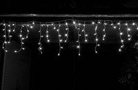 490 LED Lichterkette 8 Funktionen + Timer Eisregen Vorhang 20m Weiß Außen + Innen 3