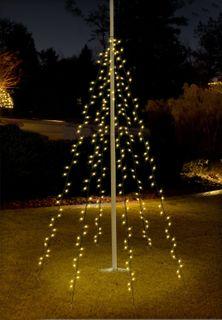 LED Lichterkette 120 LEDs Weihnachtsbaumbeleuchtung 2m Baum Beleuchtung Kegel [3]