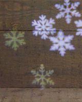 LED Effekt Licht Projektor mit weißen bewegten Schneeflocken Beamer Weihnachten 2