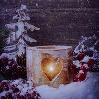 Canvas Bild flackernde Kerzen LEDs Leinwand 30x30cm Kerze Windlicht Wandbild 4