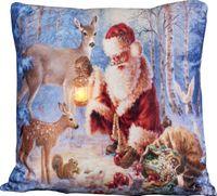 Kissen 45x45cm LED Beleuchtung Weihnachten Dekokissen Wintermotive Fotokissen 2