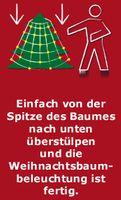 160 LED Trapez Kegel Warmweiß Netz für Weihnachtsbaum 130-170cm Lichternetz 3