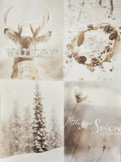 Canvas Bild Winter Fiberglas LED Leinwand 30x40cm Wandbild Weihnachten [2]
